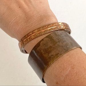 Set of 2 copper cuffs